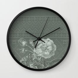 Flower - Argyle 2 Wall Clock