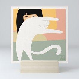 Because Why Not! Sleeping Cat Mini Art Print