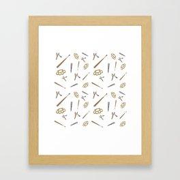 Weapons Pattern Framed Art Print