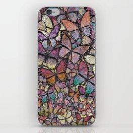 butterflies aflutter rosy pastels version iPhone Skin