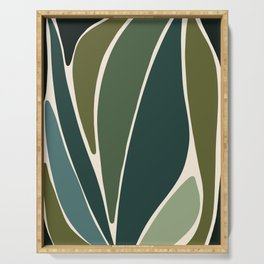 Evolve - Modern Abstract Print Serving Tray