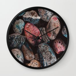 Textured Stones and Rocks Wall Clock