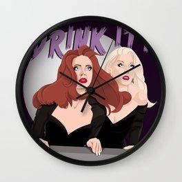 Drink It! Wall Clock