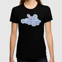 sea urchin blue watercolor T-shirt