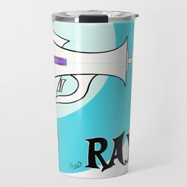 Teal Raygun Travel Mug
