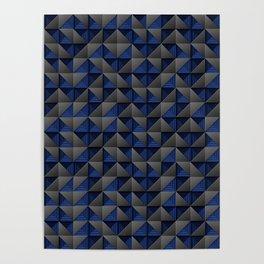 Tech Mosaic Blue Poster
