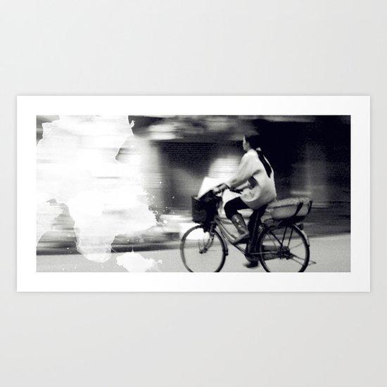 Speedy Ride Art Print