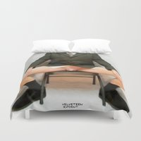 cunt Duvet Covers featuring funny painting lick BDSM fetish Big dick cock suck oral sex pussy cunt transgender anal fuck porn by Velveteen Rodent