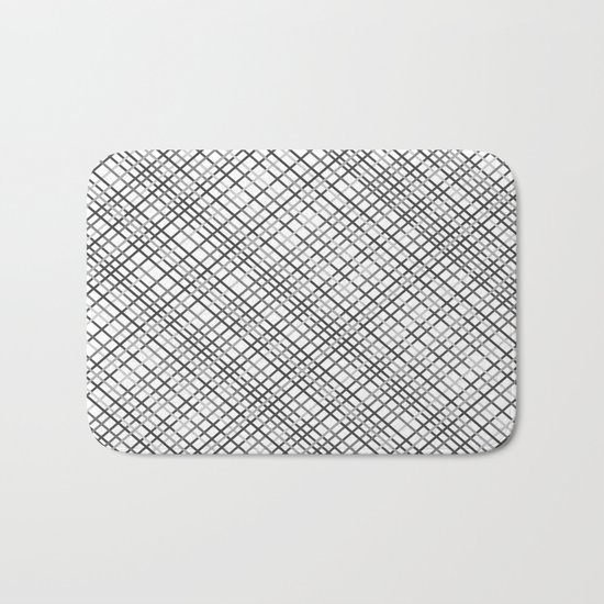 Weave 45 Black and White Bath Mat