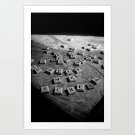 EVIL SCRABBLE! Art Print