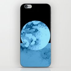 blue moon floral iPhone & iPod Skin