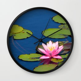 Pink Waterlily by Teresa Thompson Wall Clock