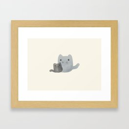 Mom & Me Framed Art Print