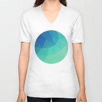 mosaic V-neck T-shirts featuring Mosaic by Talip Memis