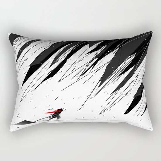 Geometric Storm Rectangular Pillow