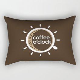 Coffee o'clock Rectangular Pillow