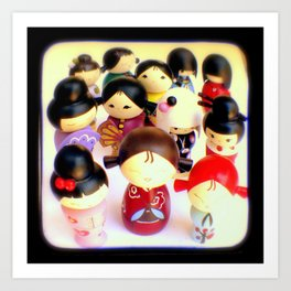 Kokeshi Dolls Art Print