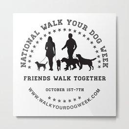 Friends Walk Together Metal Print