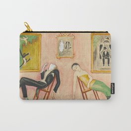 Family Idyll; Love and Marriage and Other Common Disasters portrait painting by Nils Dardel Carry-All Pouch