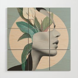Floral Portrait /collage Wood Wall Art