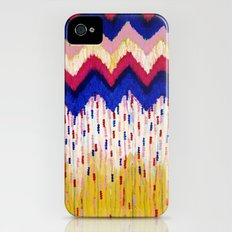 SHINE ON, Revisited - Americana Red White Blue USA Abstract Acrylic Painting Home Decor Xmas Gift Slim Case iPhone (4, 4s)