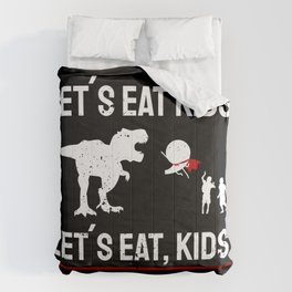 Lets eat Kids Grammar Police Commas Saves Lives Teacher Gift Comforters