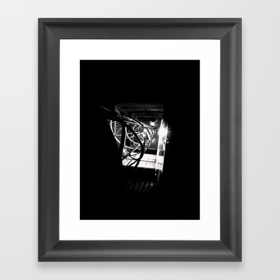 Old Town Elevator Framed Art Print