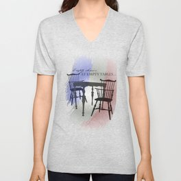 Empty Chairs at Empty Tables Unisex V-Neck