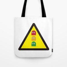 Warning ghosts Tote Bag