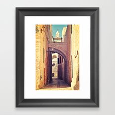 Jerusalem Alley Framed Art Print