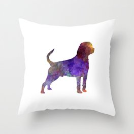 Rottweiler in watercolor Throw Pillow
