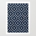 Blue Geometric Pattern by pattern1