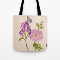 botanical Tote Bags featuring Botanical by Catherine Holcombe