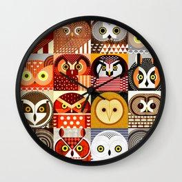 North American Owls Wall Clock