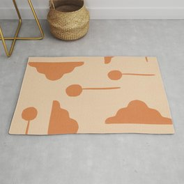 Clouds and lollipops - earth tones version Rug