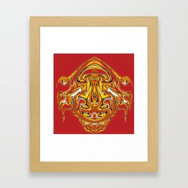 Fire Ornament, fantasy Framed Art Print