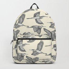 great blue herons pearl Backpack