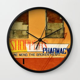 Shoppers Pharmacy - We Mend the Broken Heart Wall Clock