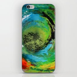Maelstrom, captivating abstract painting iPhone Skin