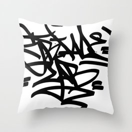 Grime Lab Graffiti Throw Pillow