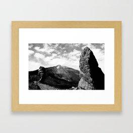 Teide in black Framed Art Print