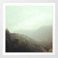 Misty Mountain Top Art Print