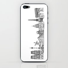 Paris Landmarks by the Downtown Doodler iPhone & iPod Skin