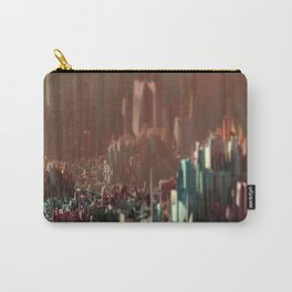 Cityscape scenic aerial view beautiful painting Carry-All Pouch