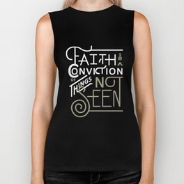 Hebrews 11:1 Bible T-Shirt Faith is a Conviction of Things Biker Tank