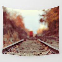 train Wall Tapestries featuring Train Song by elle moss