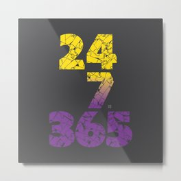 24-7/365 (Purple hustle) Metal Print