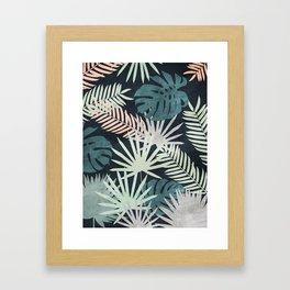 Tropicalia Night Framed Art Print