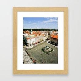 CITY CENTRE STATUE Framed Art Print