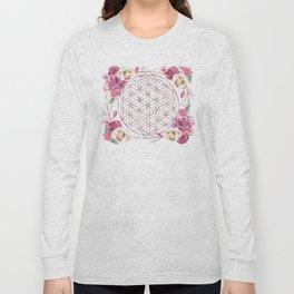 Flower of Life Rose Gold Garden Long Sleeve T-shirt